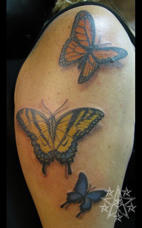 Blue Swallowtail Butterfly Tattoo