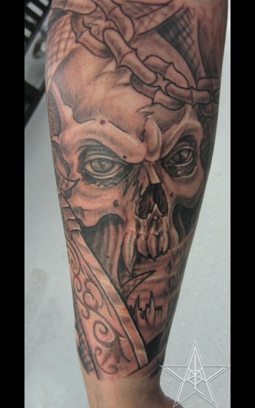 grim reaper tattoos muskegon michigan usa. Black Bedroom Furniture Sets. Home Design Ideas