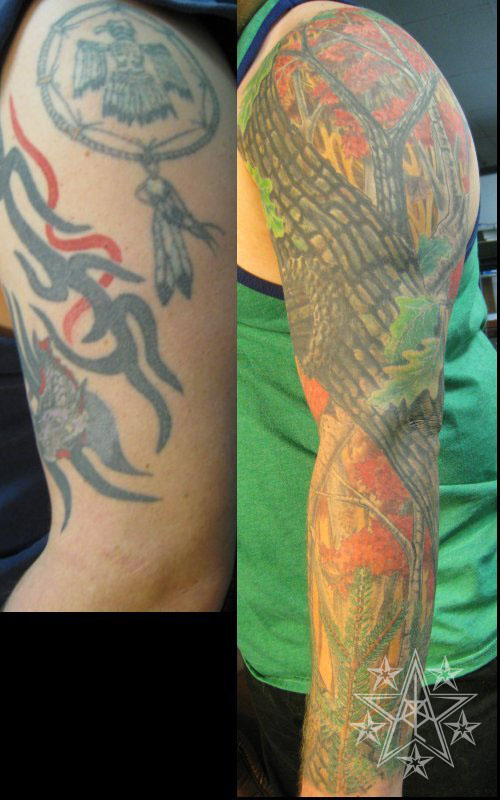 Brianr sleeve tattoo muskegon michigan usa for Camo sleeve tattoo